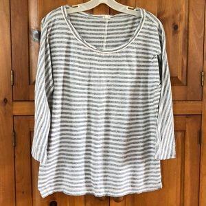 JCrew long sleeve oversized striped T-shirt